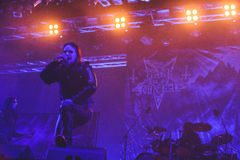 Tolmin, Slovenia - July 25th: Swedish black metal band Dark Funeral performing at Metaldays Festival on July 25th, 2016 in stock photo