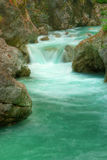 Tolminka alpine river in Slovenia Stock Photos