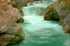 Tolminka alpine river in Slovenia Stock Images