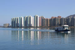 Tolo harbour Landscape in Hong Kong Ma On Shan Stock Photo
