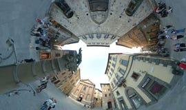 Tolomei för piazza för Siena fisköga Royaltyfri Foto