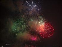 Tolone (Francia): fuochi d'artificio Fotografia Stock Libera da Diritti