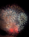 Tolone (Francia): fuochi d'artificio Immagini Stock