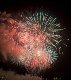 Tolone (Francia): fuochi d'artificio Fotografia Stock