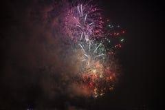 Tolone (Francia): fuochi d'artificio Fotografie Stock Libere da Diritti