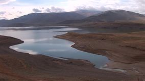 Tolors reservoir near Sisian Armenia. This lake is situated near Sisian city in Armenia stock video footage