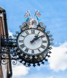 The Tolsey Clock in Wotton Under Edge, Gloucestershire stock images