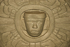 Toltec战士盾 库存图片