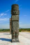 Toltec雕塑 免版税图库摄影
