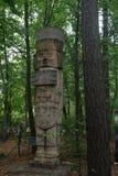 Toltec atlanta kopia sławny statuy Arkady Fiedler muzeum tolerancja zdjęcia stock
