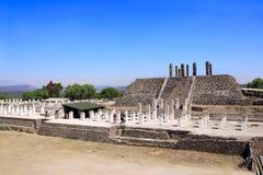 Toltec Atlantes,图拉de亚伦得,绅士状态,墨西哥 库存照片
