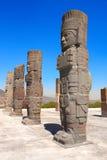 Toltec Atlantes,图拉de亚伦得,绅士状态,墨西哥 免版税图库摄影
