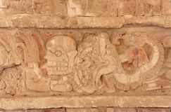 Toltec God Engraving Tula Mexico Stock Photo