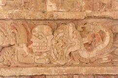 Toltec God Engraving Tula Mexico stock photo