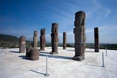 Toltec krigare. Forntida fördärvar av Tula de Allende royaltyfri bild