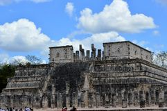 Toltec Sacrifice Site at Chichen Itza, Mexico. Toltec sacrificial site at the archaeological site in Chichen Itza, Mexico. Photo taken in March, 2014 Stock Images