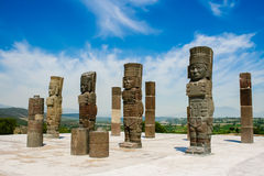 Toltec sculptures Stock Images