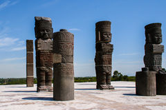 Toltec sculptures Stock Photography