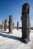 Toltec warriors. Ancient ruins of Tula de Allende Royalty Free Stock Photos