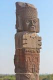 Atlantean figure at the archeological sight in Tula. Mexico stock photos