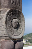 Toltec warriors. Detail. Ancient ruins Royalty Free Stock Images
