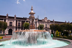 toluca Мексики lerdo de фонтана стоковые фотографии rf