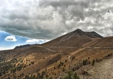 Toluca-Berge im Nationalpark Nevado de Toluca lizenzfreies stockbild