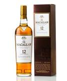 Tolv år gamla Macallan kväv whisky royaltyfria bilder