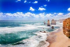 Tolv apostlar på den stora havvägen i Australien Arkivbild