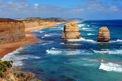 Tolv apostlar, Victoria, Australien Arkivbilder