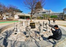 Tolv djura gudar för zodiak i den Gyeongbokgung slotten i Seoul Royaltyfria Foton