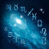 Tolv symboler av zodiacen Royaltyfri Fotografi