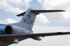 Tolva de la ciudad del klm del extremo posterior del aeroplano imagen de archivo libre de regalías