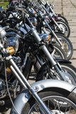 TOLYATTI, ROSJA, CZERWIEC 25, 2005: motocyklu przedstawienie rowerzyści obrazy royalty free