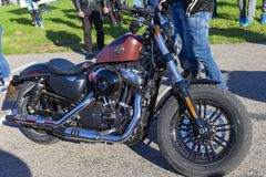 TOLYATTI, RUSSIA, MAY 09, 2018: Biker show dedicated to Victory Day. stock images