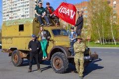 TOLYATTI, RUSSLAND, AM 9. MAI 2018: Feiertag didicated zum Siegtag stockbilder