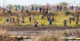 Tolyatti, Russland - 26. September: Internationaler extremer Marathon 'Hryaschevka-Herausforderung' 2015 Lizenzfreies Stockfoto