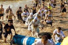 Tolyatti, Russland - 26. September: Internationaler extremer Marathon 'Hryaschevka-Herausforderung' 2015 Stockfotografie