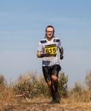 Tolyatti, Russland - 26. September: Internationaler extremer Marathon 'Hryaschevka-Herausforderung' 2015 Lizenzfreies Stockbild