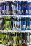 TOLYATTI RYSSLAND, JUNI 09, 2018: Vaggar med färgrik mouline i lager Royaltyfria Foton