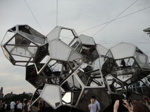 Tomás Saraceno on the Roof: Cloud City 8 Stock Images