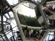 Tomás Saraceno on the Roof: Cloud City 10. Artist Tomás Saraceno (born in Tucumán, Argentina, in 1973) has created a constellation of large, interconnected Royalty Free Stock Images