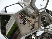 Tomás Saraceno on the Roof: Cloud City 12. Artist Tomás Saraceno (born in Tucumán, Argentina, in 1973) has created a constellation of large, interconnected Stock Photography