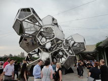 Tomás Saraceno on the Roof: Cloud City 14. Artist Tomás Saraceno (born in Tucumán, Argentina, in 1973) has created a constellation of large, interconnected Royalty Free Stock Photos