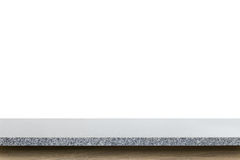 Tom överkant av granitstentabellen som isoleras på vit bakgrund Royaltyfri Fotografi