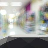 Tom abstrakt laminathylla och suddig bakgrund Fotografering för Bildbyråer
