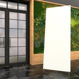 Tom advertizingställning i inre ` för X-baner `-spindel, visualization 3d Arkivbild