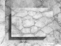 Tom affischtavla för betongväggbaner Modern backgr för arkitektur Fotografering för Bildbyråer
