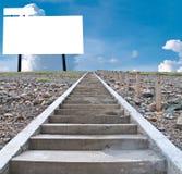 Tom affischtavla på kullen Fotografering för Bildbyråer