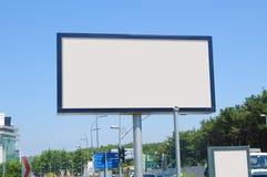 Tom affischtavla utomhus, utomhus- advertizing Arkivbild